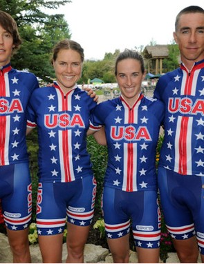 USA Cycling's four London-bound mountain bikers: Schultz, Gould, Davison and Wells