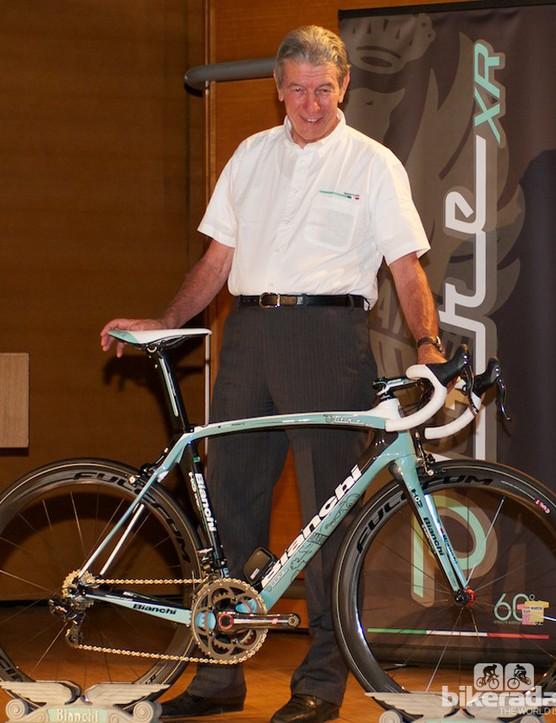 Felice Gimondi with the Oltre XR in Pau