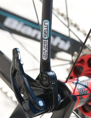 The rear dropouts have the seatstays bolted to them