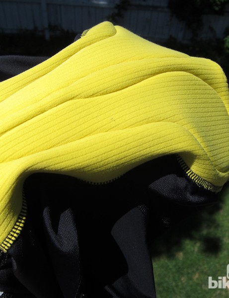 DirtBaggies use a supremely comfortable Cytech stretch chamois in the liner. We've ridden this in other brands' road shorts for hours on end, with no irritation to speak of