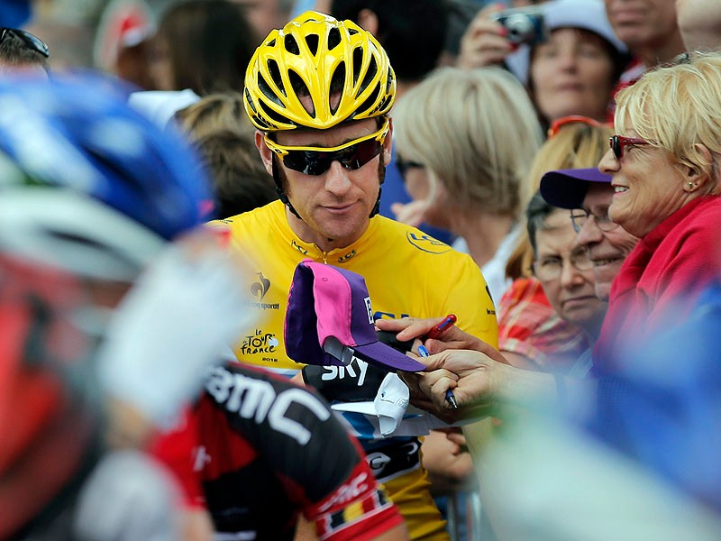 Bradley Wiggins was in confident mood ahead of stage 16