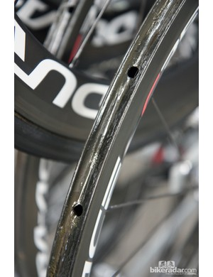 New wheels are stored with base layers of glue pre-applied, for faster tire installation