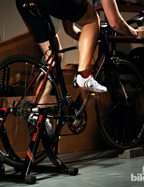 Using an indoor turbo trainer is an effective way to keep up your fitness whatever the weather