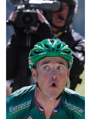 Voeckler en route to a solo victory on stage 16 of the 2012 Tour de France