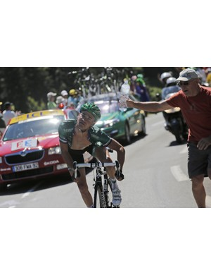 Voeckler's expressions aren't limited to just his face
