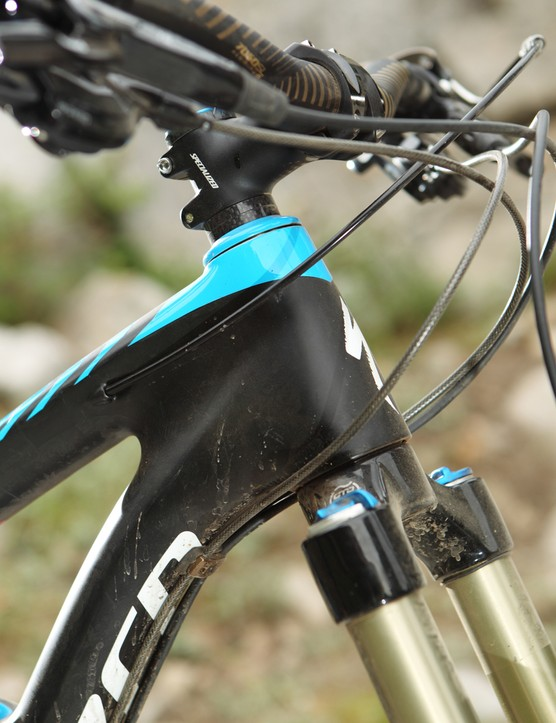 The Enduro has a shorter head tube for 2013