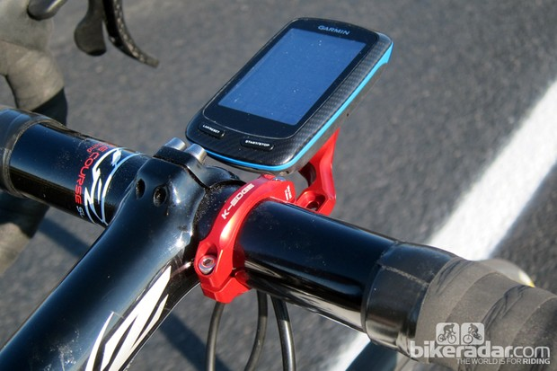 K-Edge's Garmin computer mount is impressively sturdy and secure, with fully machined aluminum