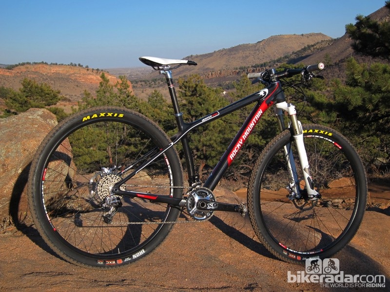 Rocky Mountain's Vertex 990 RSL flagship 29er hardtail is an obvious choice for cross-country racing, but slap on some wider tires and it's impressively capable for trail riding, too