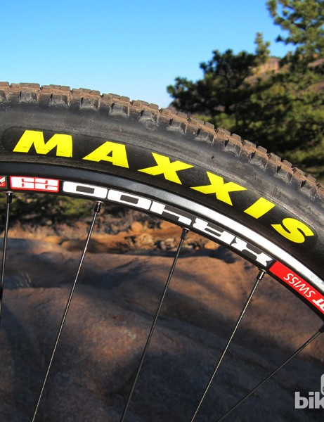 The DT Swiss XR 400 double-wall rims are reasonably light at 450g each, but cross-country racers will probably want something even more svelte