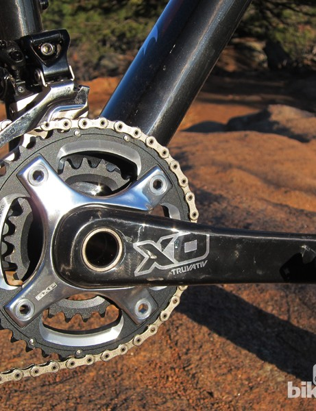 Rocky Mountain spec the smaller 39/26T Truvativ X0 2x10 cranks for the Vertex 990 RSL