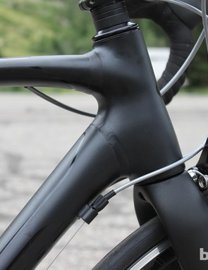 Specialized's forged head tube is innovatively welded to the top and down tubes