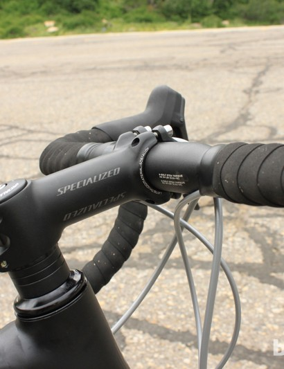 Specialized's OE spec stem and shallow drop bar