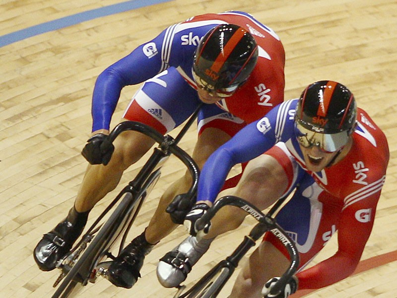 Jason Kenny (R) got the nod for the men's sprint over teammate Sir Chris Hoy (L)