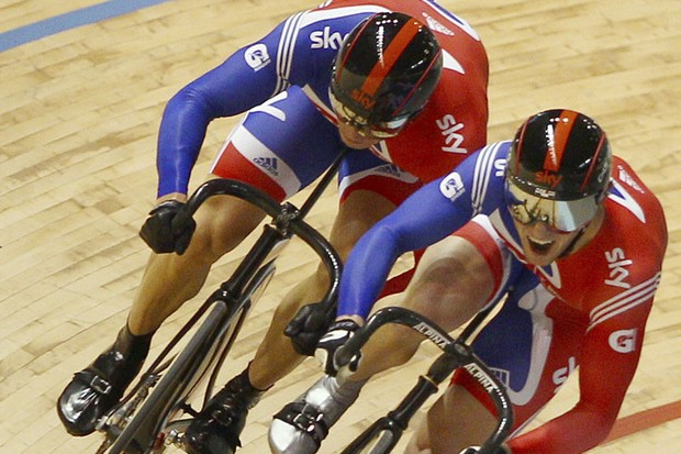 Jason Kenny (R) got the nod for the men's sprint over teammate Sir Chris Hoy (L)