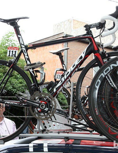 Most of the Lotto-Belisol riders are using the lightweight Ridley Helium during this year's Tour de France.