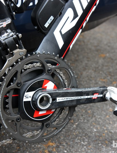 Lotto-Belisol sprinter Andre Greipel is putting a lot of watts into this SRM power meter.