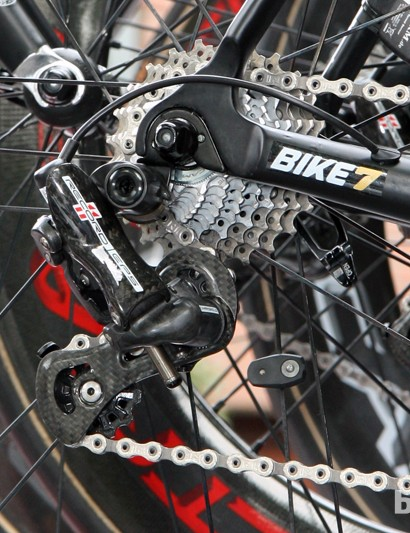 Campagnolo Record EPS electronic drivetrains are featured on Lotto-Belisol team bikes at this year's Tour de France.