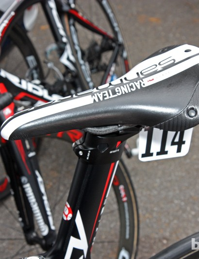 Andre Greipel's (Lotto-Belisol) saddle of choice is San Marco's Regale.