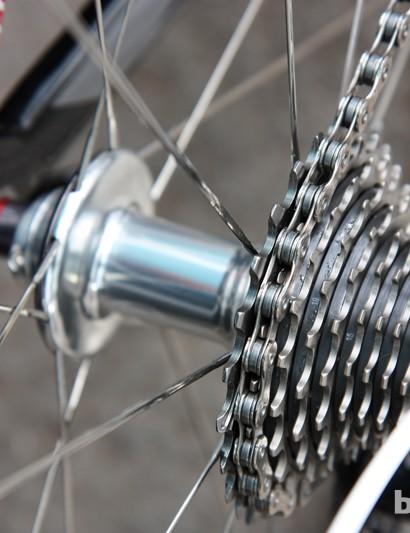 Levi Leipheimer (Omega Pharma-QuickStep) is using SRAM's new Red cassette at this year's Tour de France.