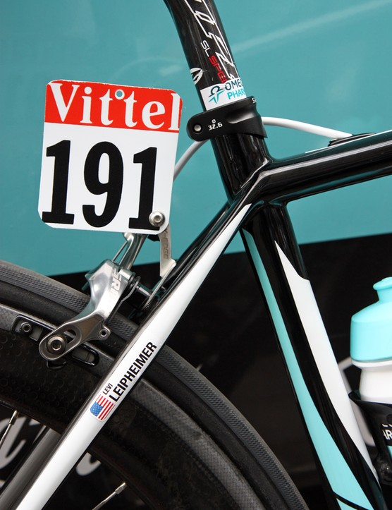 K-Edge has also supplied Levi Leipheimer (Omega Pharma-QuickStep) with its new number plate holder.