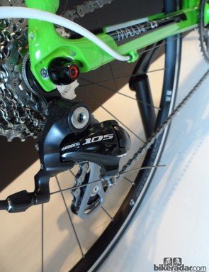 Shimano's smooth running 105 is a great choice at this price