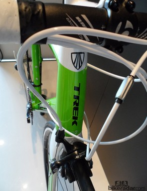The bulging head tube adds stiffness to the front end, sharpening up the handling