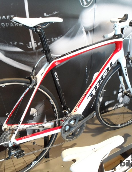 The Domane 6.9 comes as standard with Shimano's new 11 speed Dura-Ace