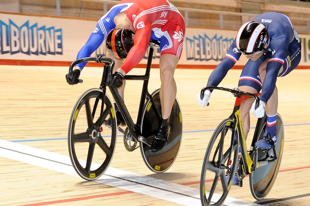 The match sprint is track cycling's blue riband event