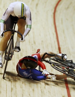 Crashing is not uncommon in track sprinting, as it involes high speeds and close contact