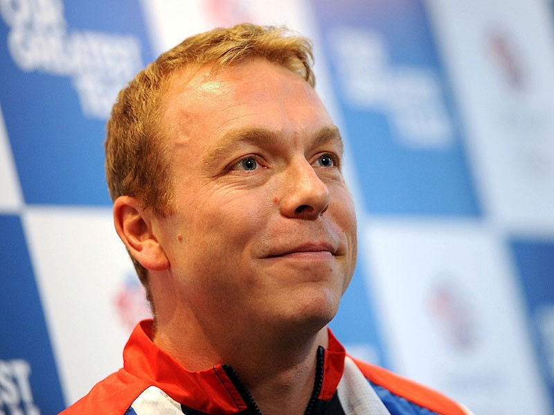 Chris Hoy carried the flag during the closing ceremony four years ago in Beijing