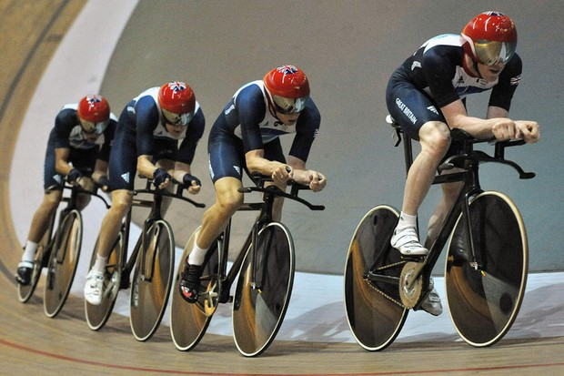 The British team are the current world record holders in both the men's and women's team pursuit