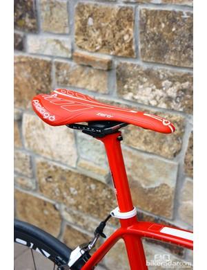 Prologo provide custom covered saddles for Diamondback's Podium road bikes