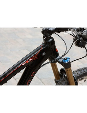 The new Mason FS's huge down tube takes up the entire length of the tapered head tube