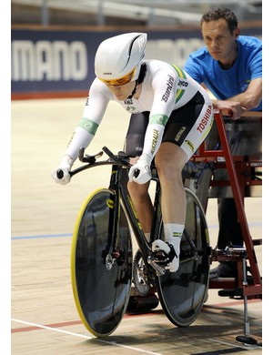 The time trial: 1km for men, 500m for women