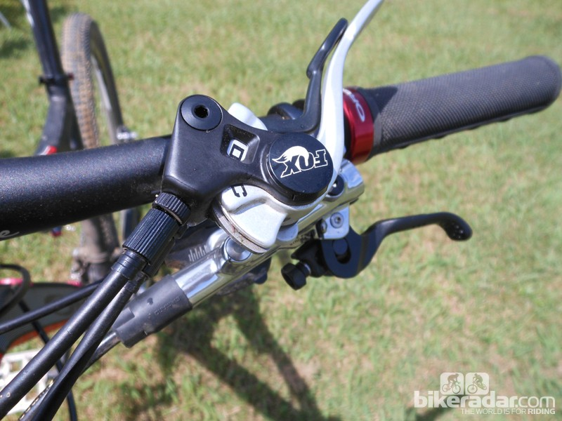 The Fox CTD lever can be used to change suspension presets while you're shredding the trail