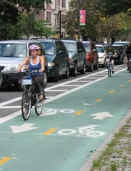 Green lanes keep rider safer
