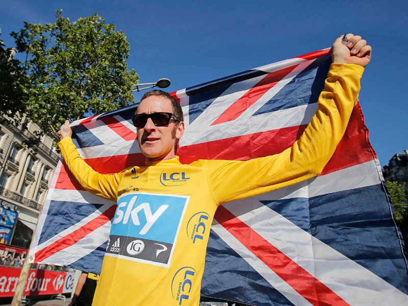 Bradley Wiggins was congratulated by The Queen following his win in the Tour de France