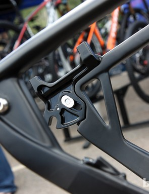 Each dropout attaches with two bolts on Pivot's new Les hardtail