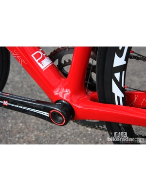 Diamondback fits the Podium 7 with Campagnolo's press-fit cups