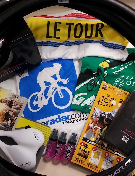Our Tenth of the Tour winner will receive this bumper crop of cycling goodies