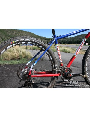 Thinner seat stays and a kinked configuration supposedly lend a little extra comfort to the new Ritchey P-27.5's rear end