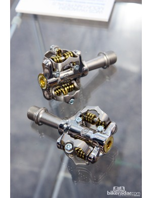 Ritchey's new Paradigm mountain bike clipless pedals sport a combination of needle and cartridge bearings plus inboard bushings, forged chromoly steel axles, a claimed weight just over 200g, and a price of $159 per pair