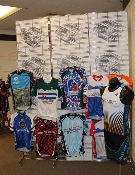 Pearl Izumi has recently ramped up its custom program, primarily for bike shops and events