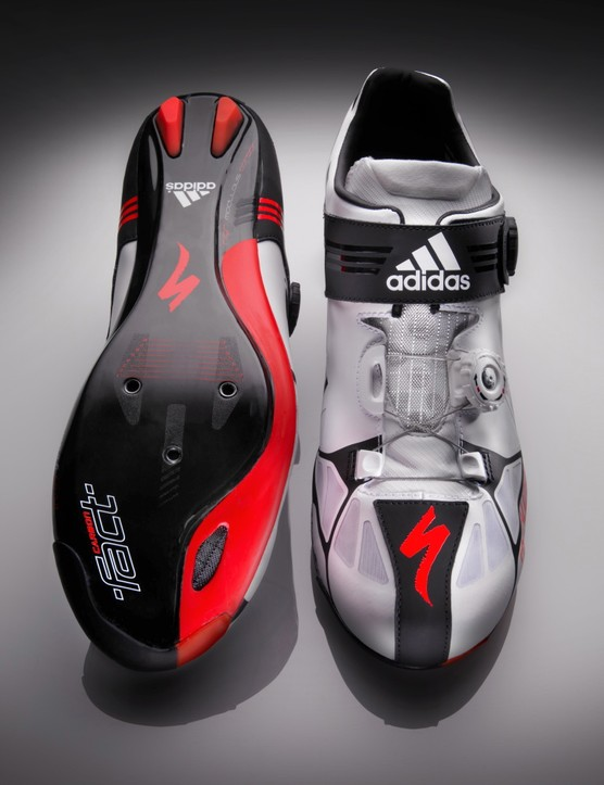 The sole is Specialized; the upper is adidas