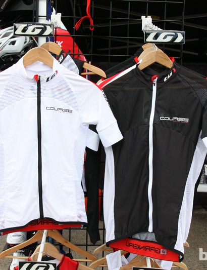 Louis Garneau will offer two Course flagship jerseys for 2013: the standard Race version at left and the ultralight Superleggera at right with more mesh
