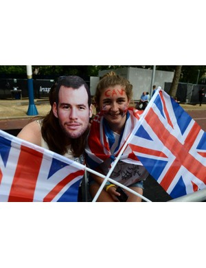 Cav fans were everywhere along the course