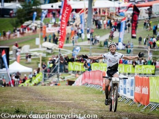 Nino Schurter (Scott - Swisspower MTB Racing Team) wins the World Cup in Val d'Isere, France