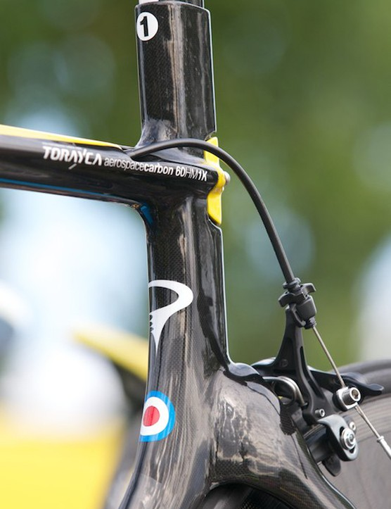 Number one TT bike for the Tour's number 1 rider. Wiggo roundel has already become his trademark
