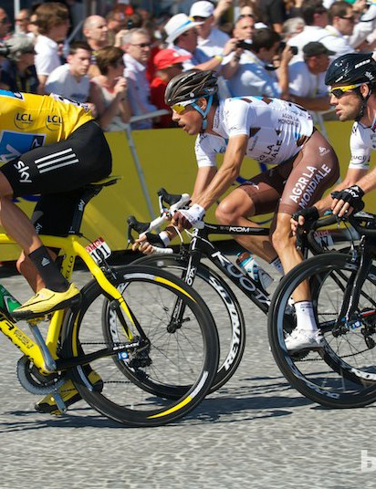 Bradley Wiggins on his way to winning the 2012 Tour de France