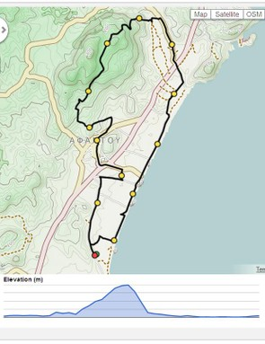 The challenging route takes in a technical climb, which is rewarded with a long descent